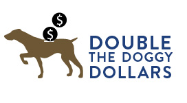 Double doggie dollars color icon