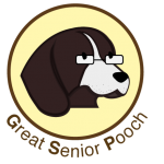 Great Senior Pooch icon yellow dk brown
