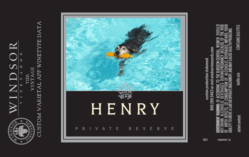 Henry wine label