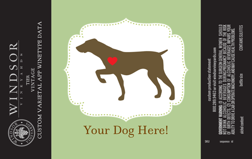logo-dog wine label