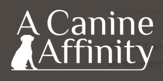 a canine affinity logo brown