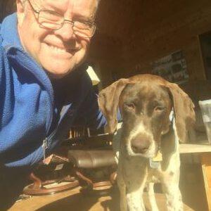 Timber with adoptive dad